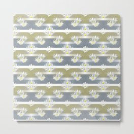 Mix of formal and modern with anemones and stripes 1 Metal Print
