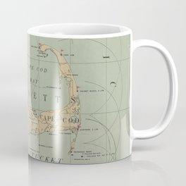 Vintage Massachusetts Lighthouse Map (1898) Coffee Mug