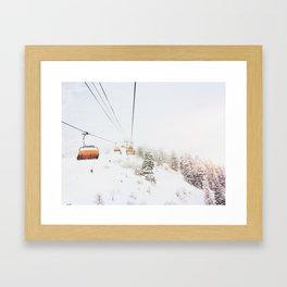 Orange Bubble Framed Art Print