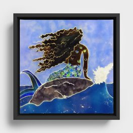Lady of the Atlantic Crossing Framed Canvas