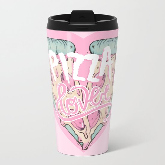 Pizza Lover Metal Travel Mug