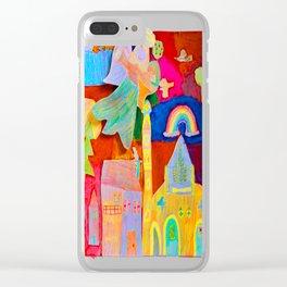 Rainbow Angel Clear iPhone Case