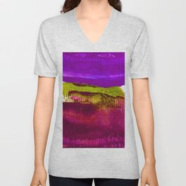Encaustic Abstract No.27I by Kathy Morton Stanion Unisex V-Neck