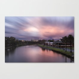 sunset melbourne yarra river Canvas Print
