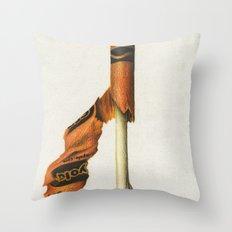 To The Core: Orange Throw Pillow