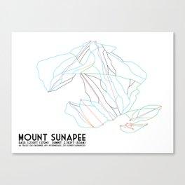 Mount Sunapee, NH - Minimalist Trail Art Canvas Print