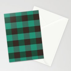 Pixel Plaid - Glacier Melt Stationery Cards