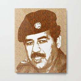 Scrabble Saddam Hussein Metal Print