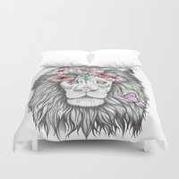 the lion king Duvet Covers featuring Lion King by Sorasoraya