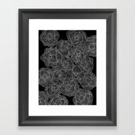 In Bloom (b&w) Framed Art Print