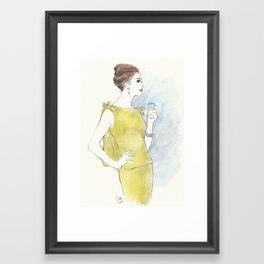 'Natalia' Watercolor Fashion Illustration Framed Art Print