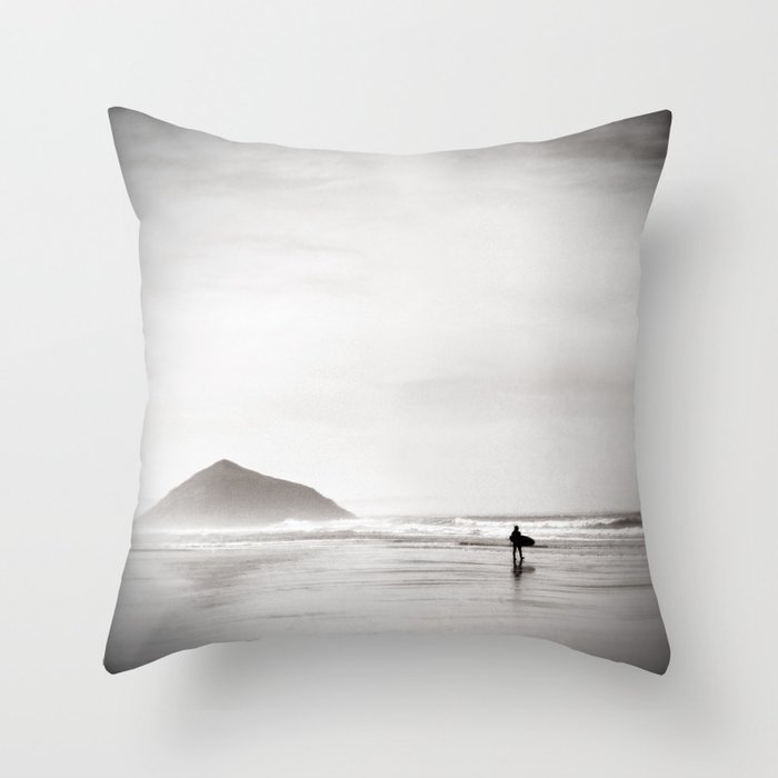 Morning Surf Near Tofino Bc Canada Throw Pillow By