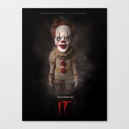 It (2017) Alternative Movie Poster Canvas Print
