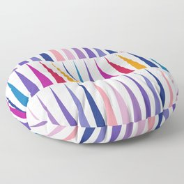 Pink Blue Triangles Pattern Floor Pillow