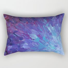 SCALES OF A DIFFERENT COLOR - Abstract Acrylic Painting Eggplant Sea Scales Ocean Waves Colorful Rectangular Pillow