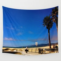 skate Wall Tapestries featuring Skate Venice by starvingarchitect