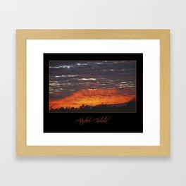 atardecer cholula Framed Art Print
