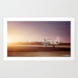 Vintage Plane at Bowman Air Field Art Print