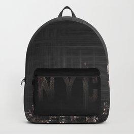 MODERN ART New York City Skylines | black Backpack