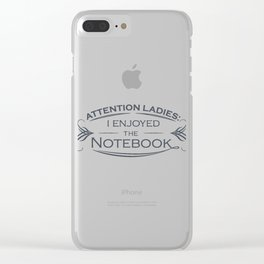The Notebook Clear iPhone Case