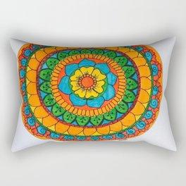 Rainbow Mandala Rectangular Pillow
