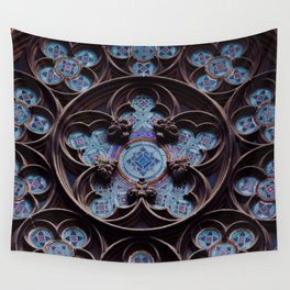 French Rose Window Wall Tapestry