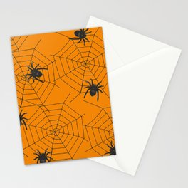 Halloween Spider Illustration Stationery Cards