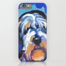 Fun PBGV Petit Basset Griffon Vendéen Dog bright colorful Pop Art iPhone Case