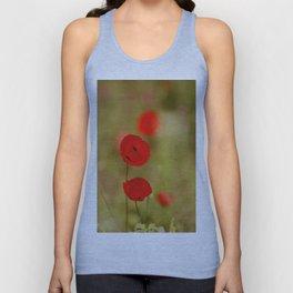 Red Poppy Unisex Tank Top