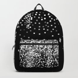 glitter silver and black Backpack