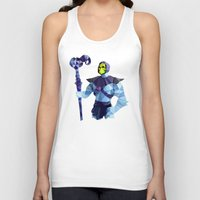 skeletor Tank Tops featuring Polygon Heroes - Skeletor by PolygonHeroes