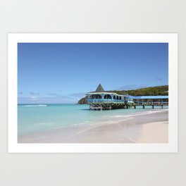 Tropical Paradise Pier on Antigua Art Print