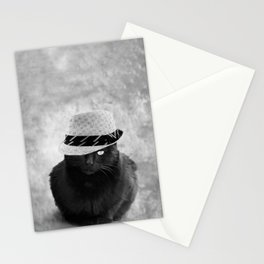 Cat with hat Stationery Cards