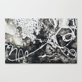 Black & White watercolor Painting Canvas Print