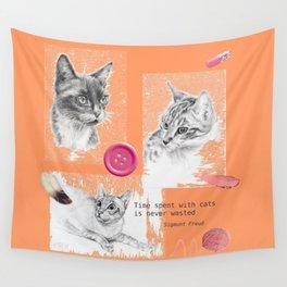 Cats and psychoanalysis Wall Tapestry