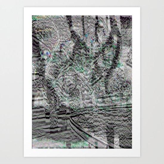 trees climb, too, downwards (2) Art Print
