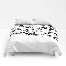 Terrazzo Texture Black and White #8 Comforters