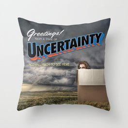 State of Uncertainty Throw Pillow