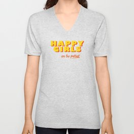 Happy Girls - typography Unisex V-Neck