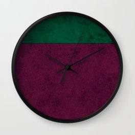 Green suede Wall Clock