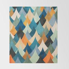 Eccentric Peaks Throw Blanket