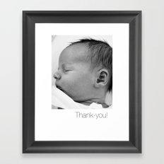 Elliott Thanks Framed Art Print