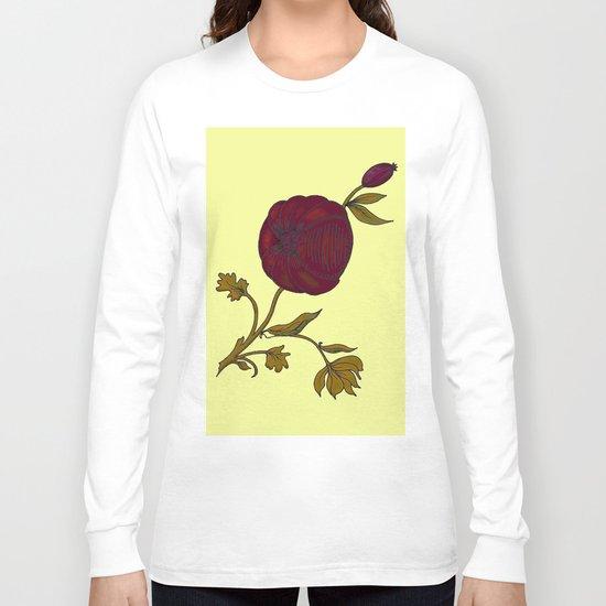 simple decorative pomegranate 3 Long Sleeve T-shirt