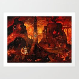 Red Hellish Landscape Art Print