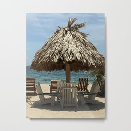 PAZ (Placencia beach, Belize) Metal Print