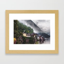 Dreamy Austrian village: Hallstatt Framed Art Print