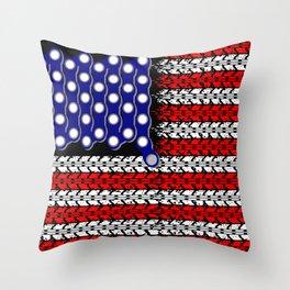 Bike USA Flag Throw Pillow