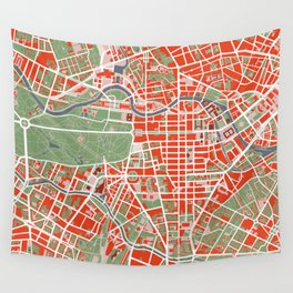 Berlin city map classic Wall Tapestry