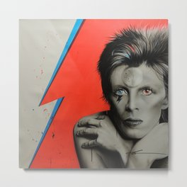 Bolt of Bowie Metal Print