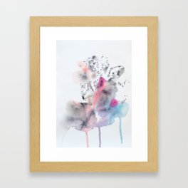 Colorful Rorschach Leaf Stamp Framed Art Print